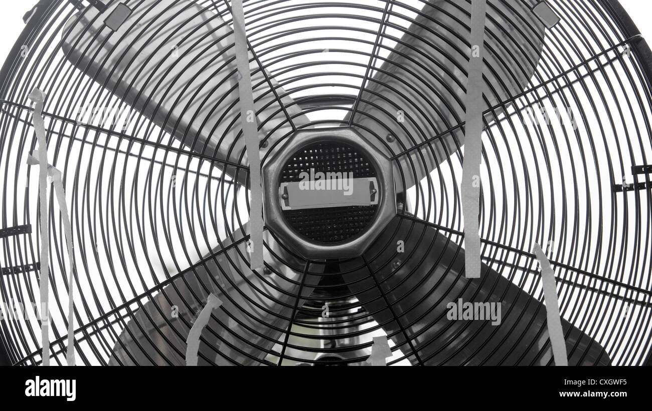 Delightful Stock Photo   Retro Classic Table Fan Close Up, Front View