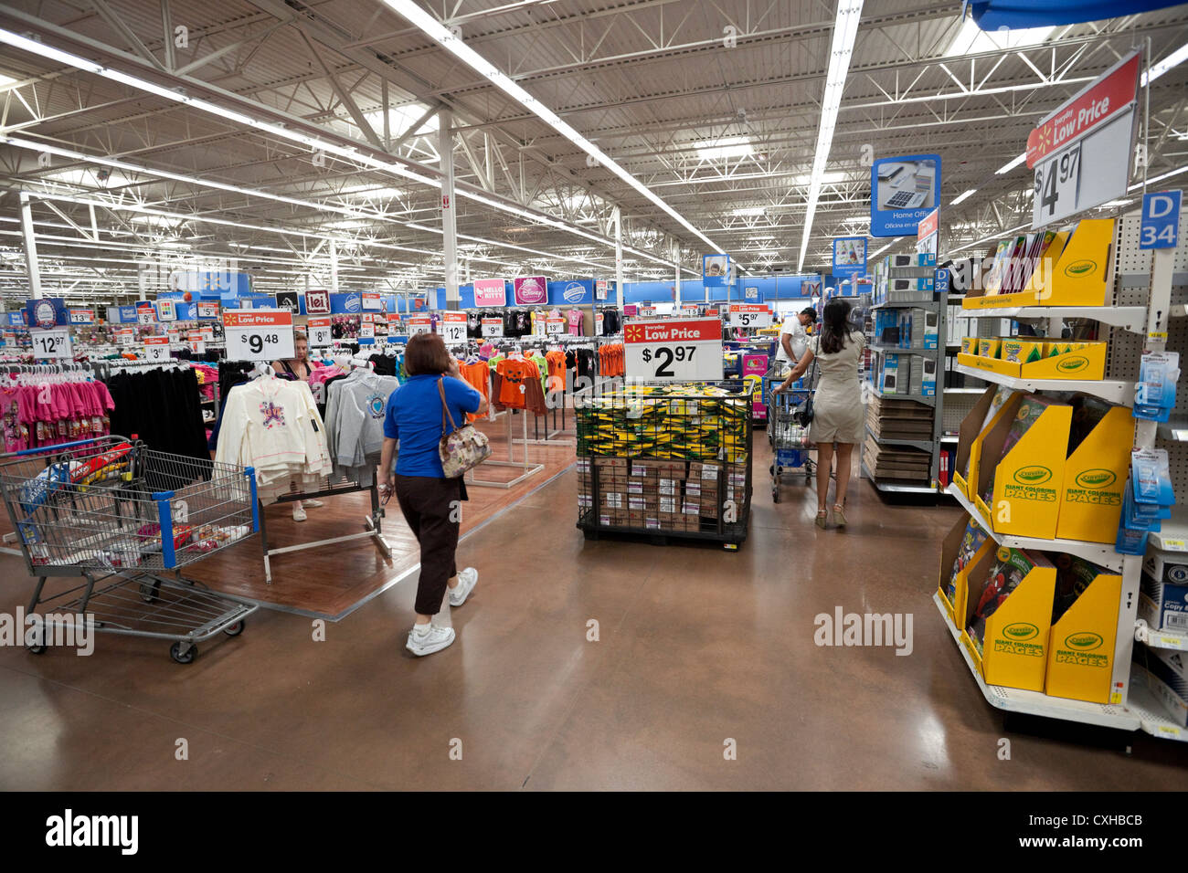 interior of a walmart store in miami florida usa stock photo royalty free image 50783947 alamy. Black Bedroom Furniture Sets. Home Design Ideas