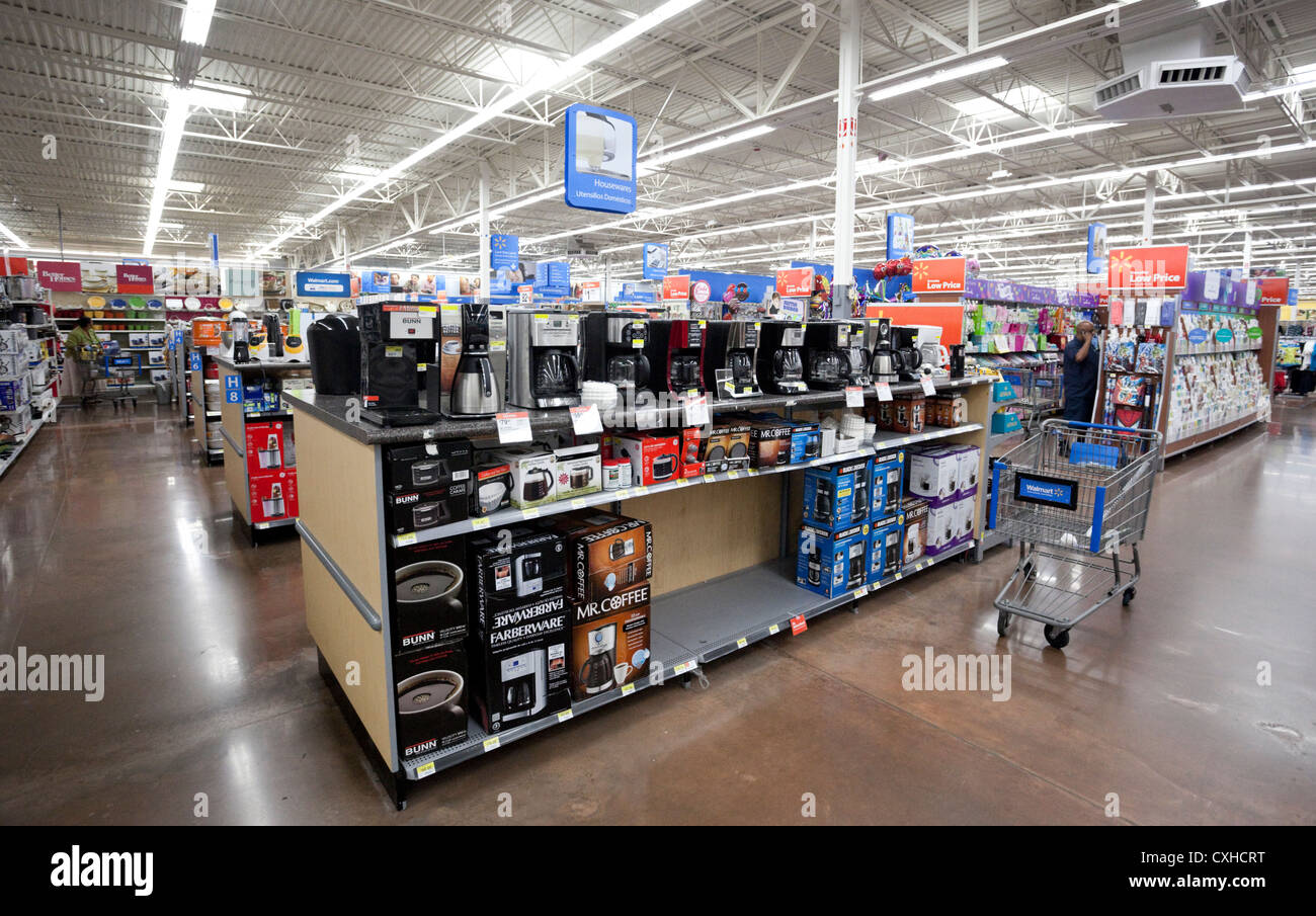 appliance department at a walmart store in miami florida usa stock photo royalty free image. Black Bedroom Furniture Sets. Home Design Ideas