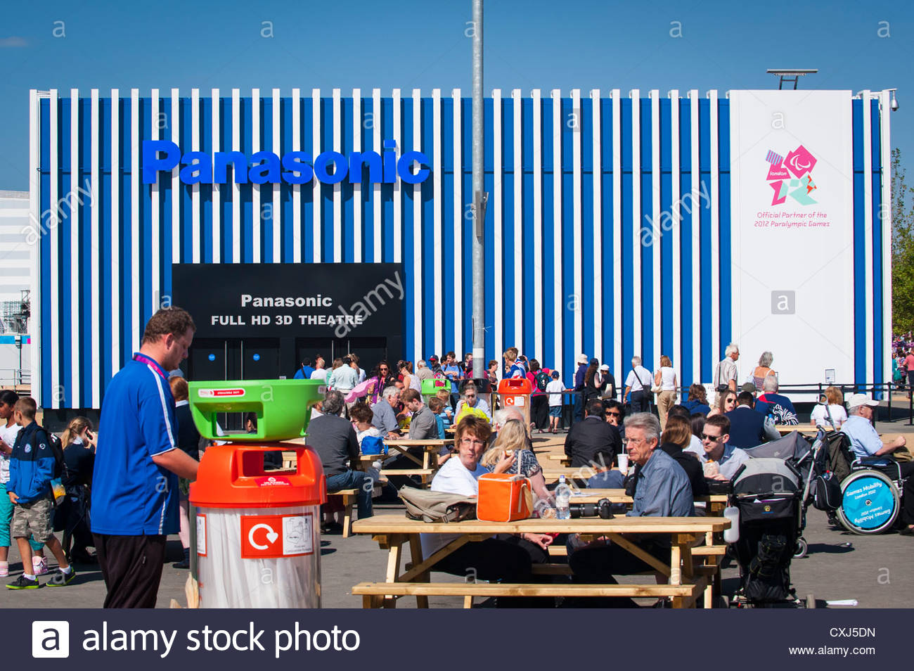 London 2012 Paralympics Olympic Park Stratford The Panasonic Full HD 3D Theatre With Picnic