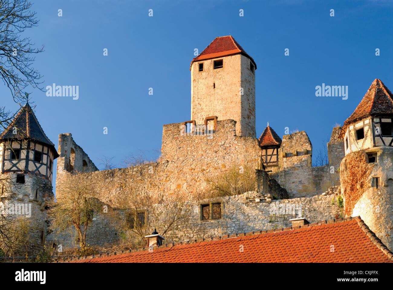 germany baden w rttemberg medieval castle burg hornberg in stock photo royalty free image. Black Bedroom Furniture Sets. Home Design Ideas