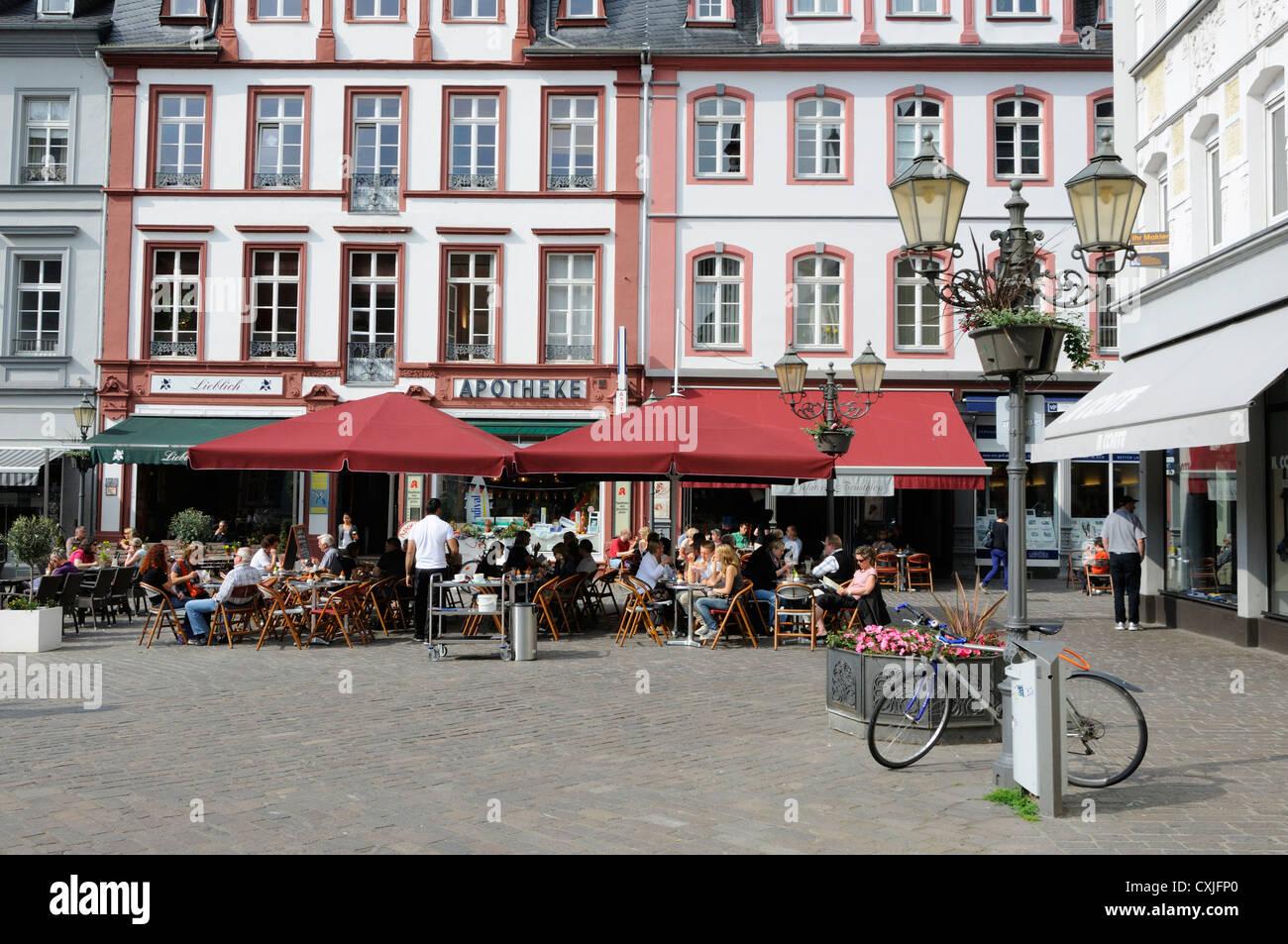 gelateria brustolon jesuitenplatz koblenz germany stock photo royalty free image 50809304. Black Bedroom Furniture Sets. Home Design Ideas
