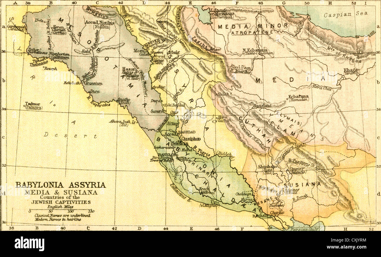 map of babylon assyria media and susiana countries of the