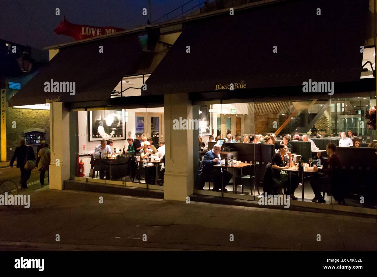Black and Blue restaurant window Borough Market. Stoney ... - photo#5
