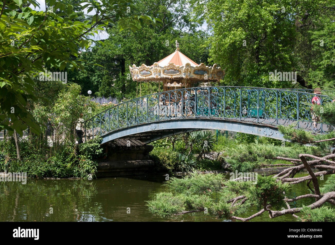 Jardin public bordeaux gironde france with carousel ride in the stock photo 50854289 alamy - Rue du jardin public bordeaux ...