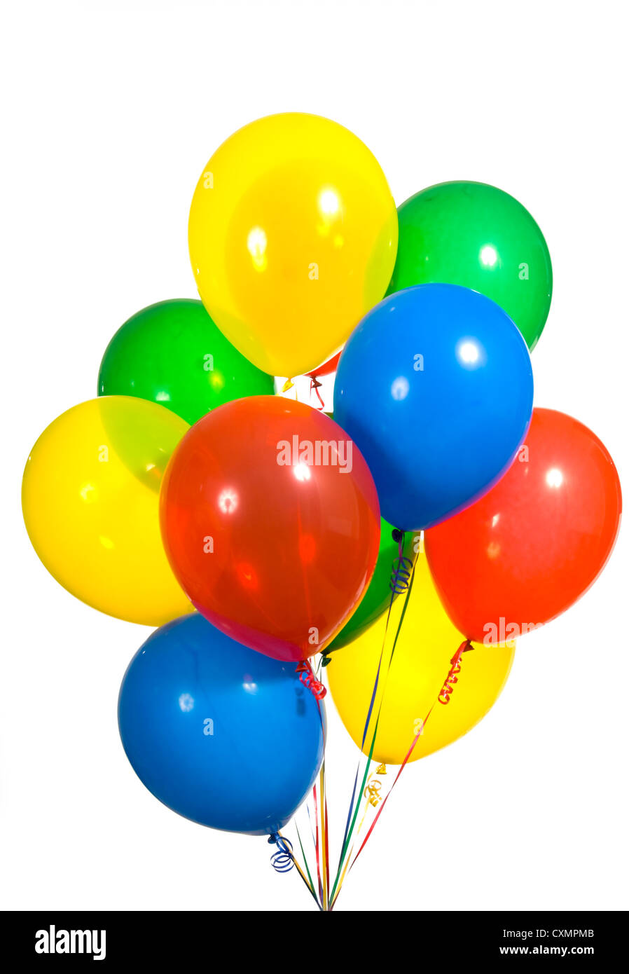 primary color balloons arranged in a bouquet for a birthday party or other type celebration - Primary Color Pictures