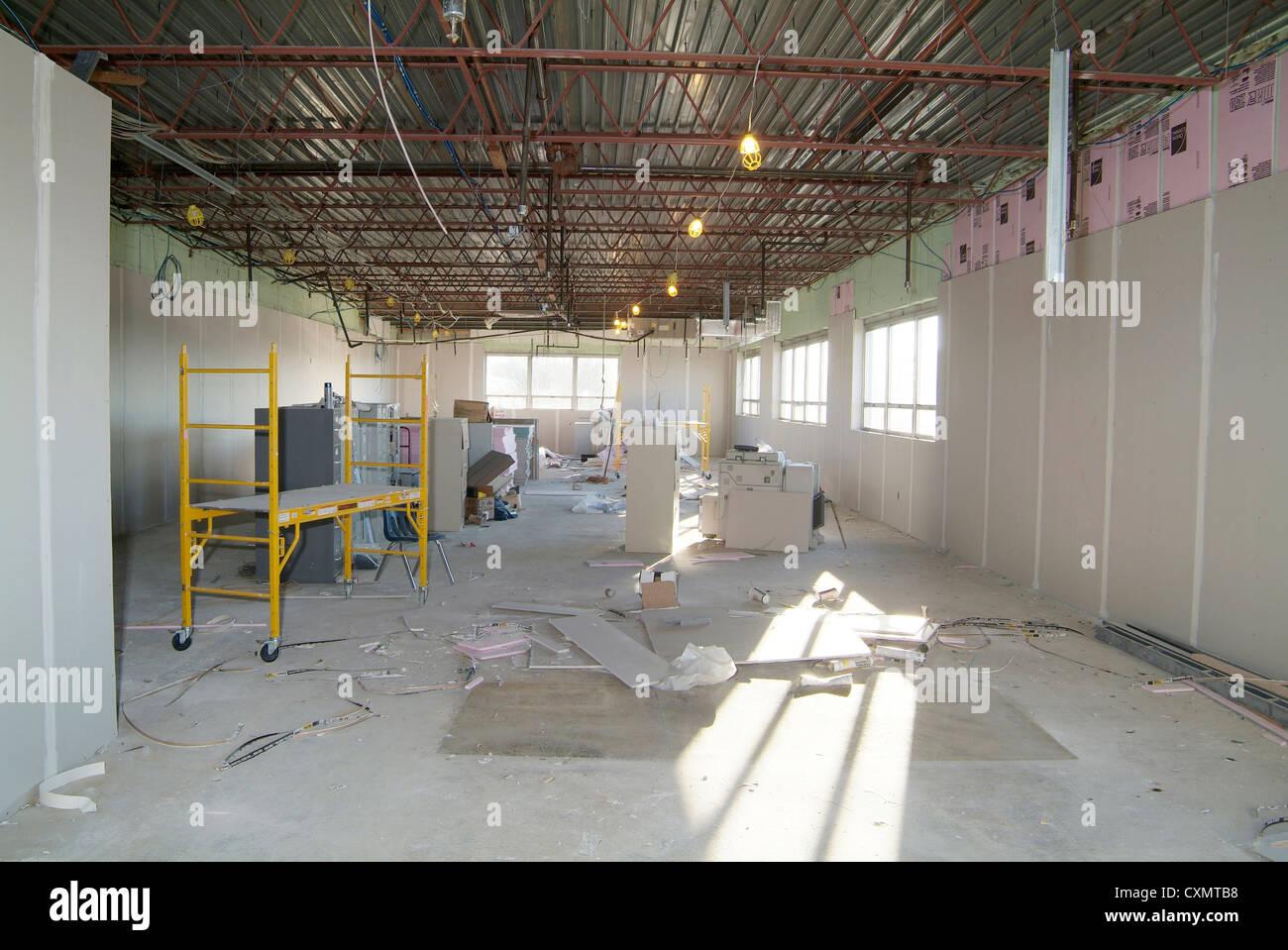 Commercial Industrial Building Interior Under Construction ...