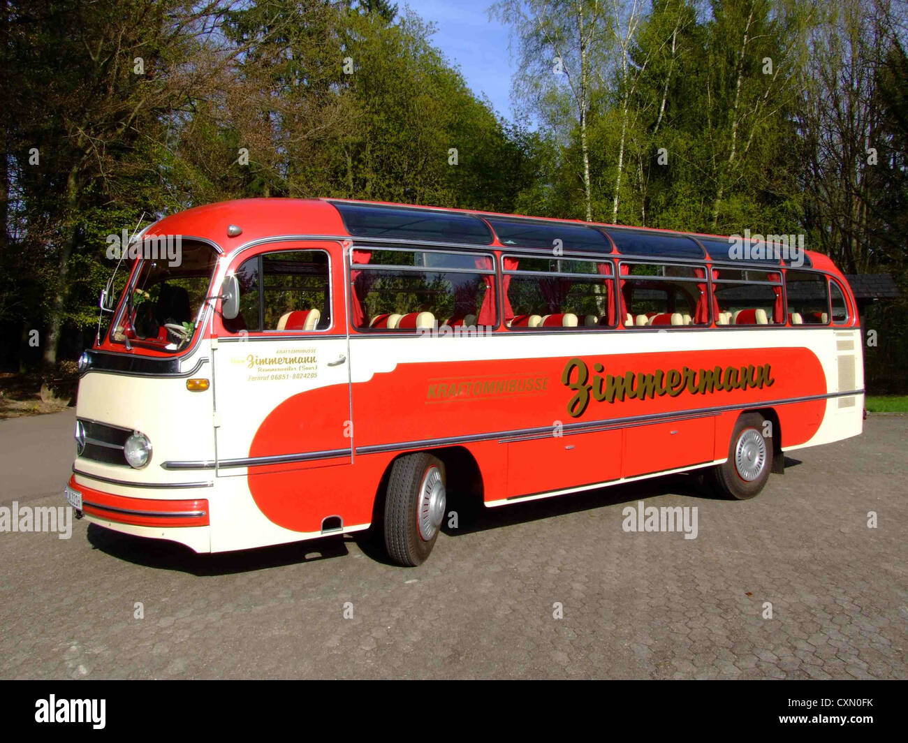 mercedes benz o 321 classic old bus stock photo royalty. Black Bedroom Furniture Sets. Home Design Ideas