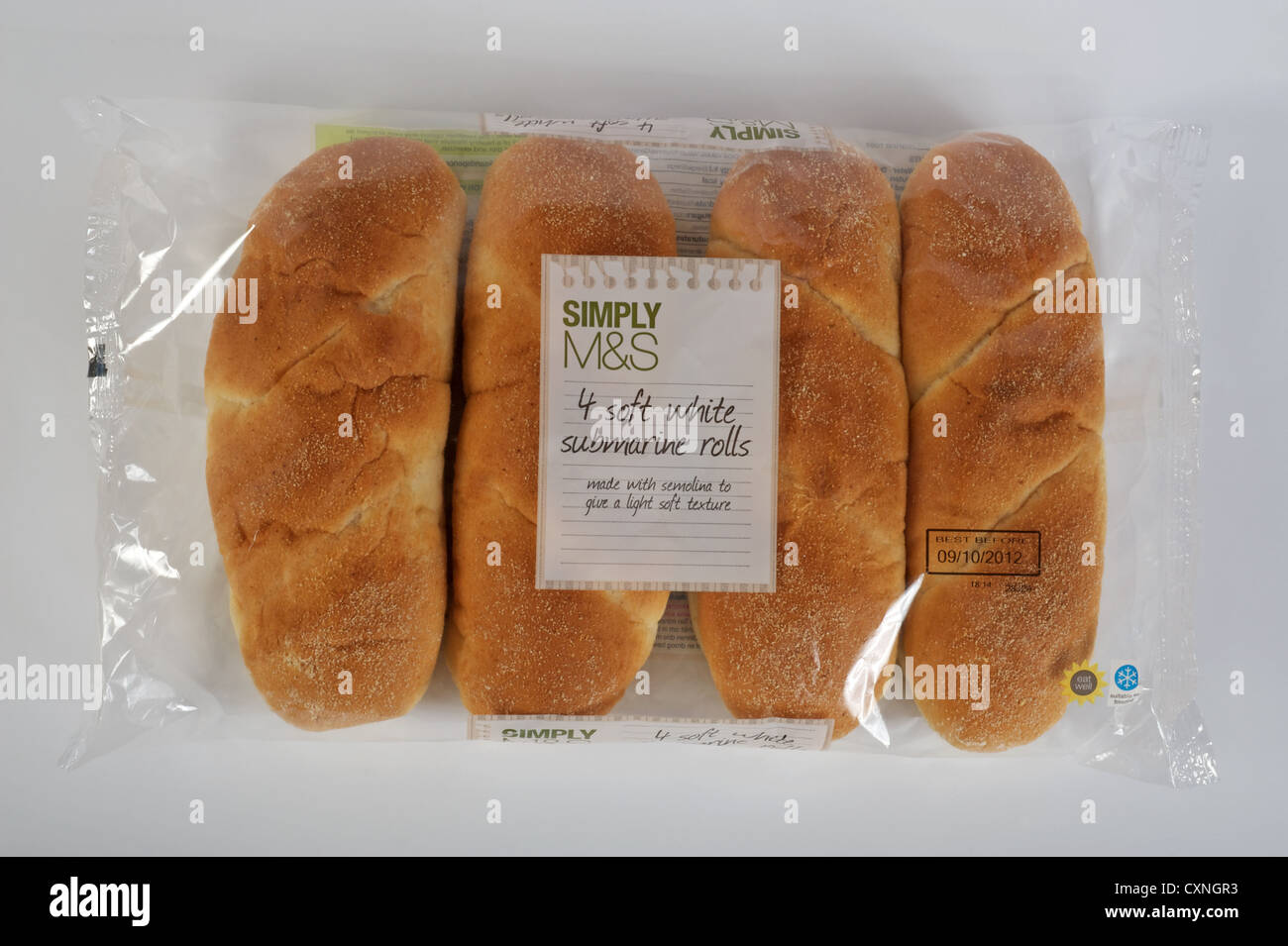 Marks & Spencer submarine bread rolls Stock Photo, Royalty Free Image ...