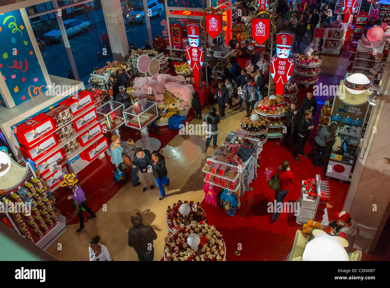 New york city ny usa people shopping fifth avenue fao new york city ny usa people shopping fifth avenue fao schwartz toy store overview aerial manhattan sciox Image collections