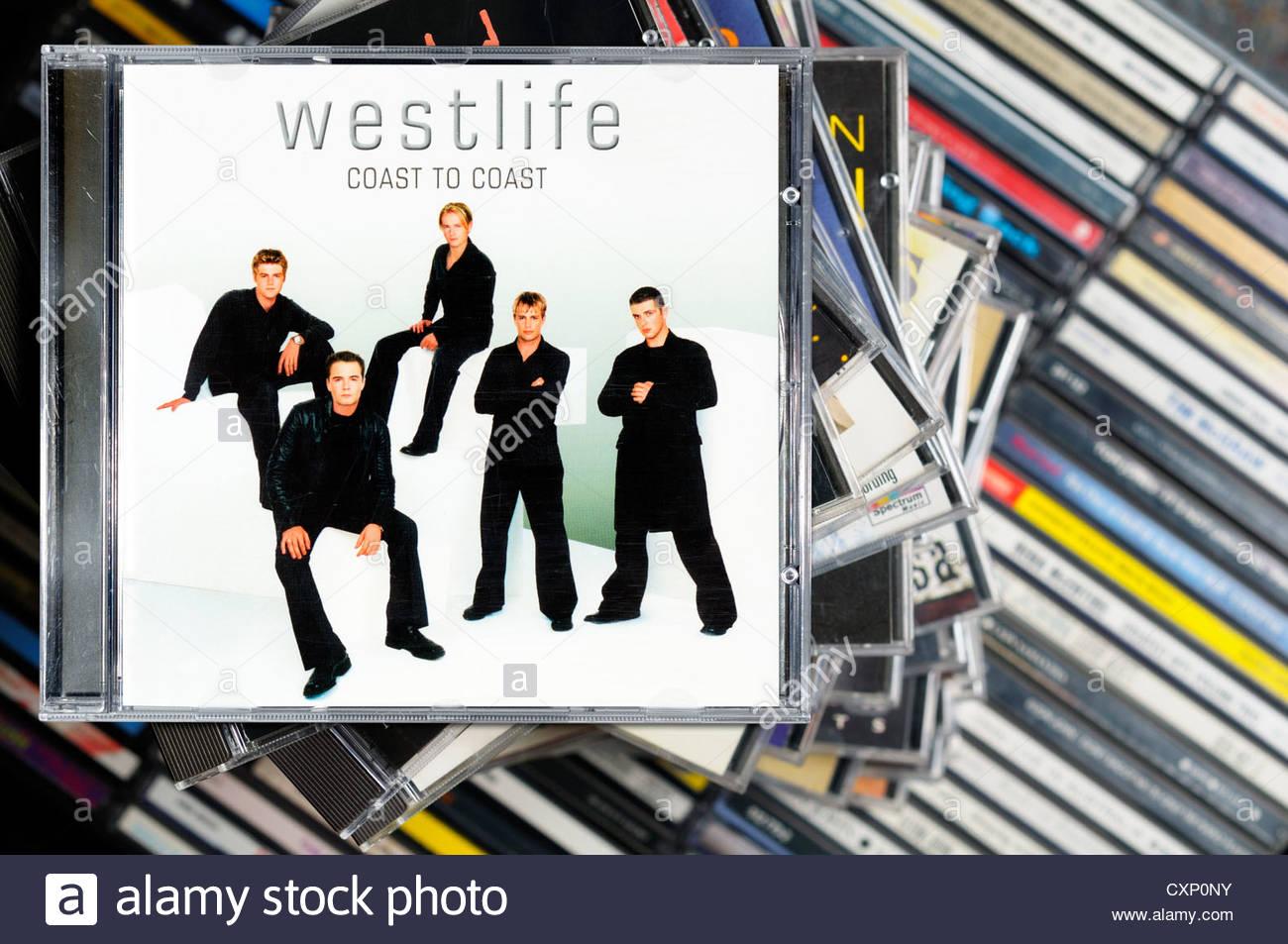 westlife album coast to coast piled music cd cases