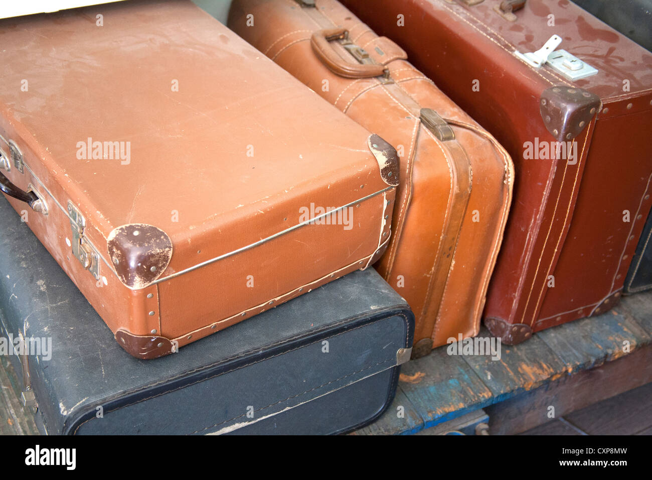 Old Suitcases Part - 47: Old Suitcases In Railway Station