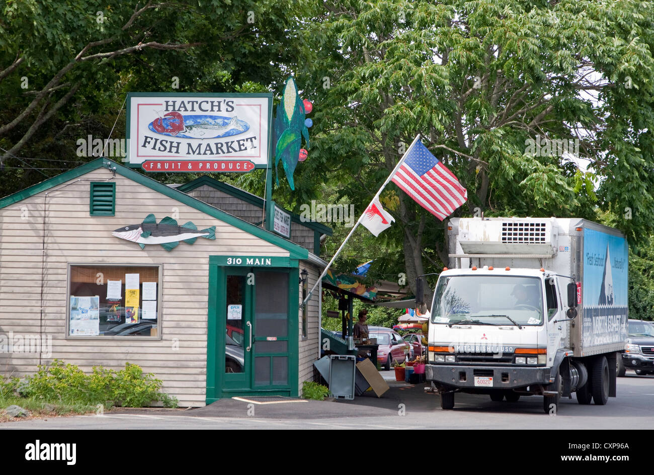fish market store cape cod massachusetts stock photo