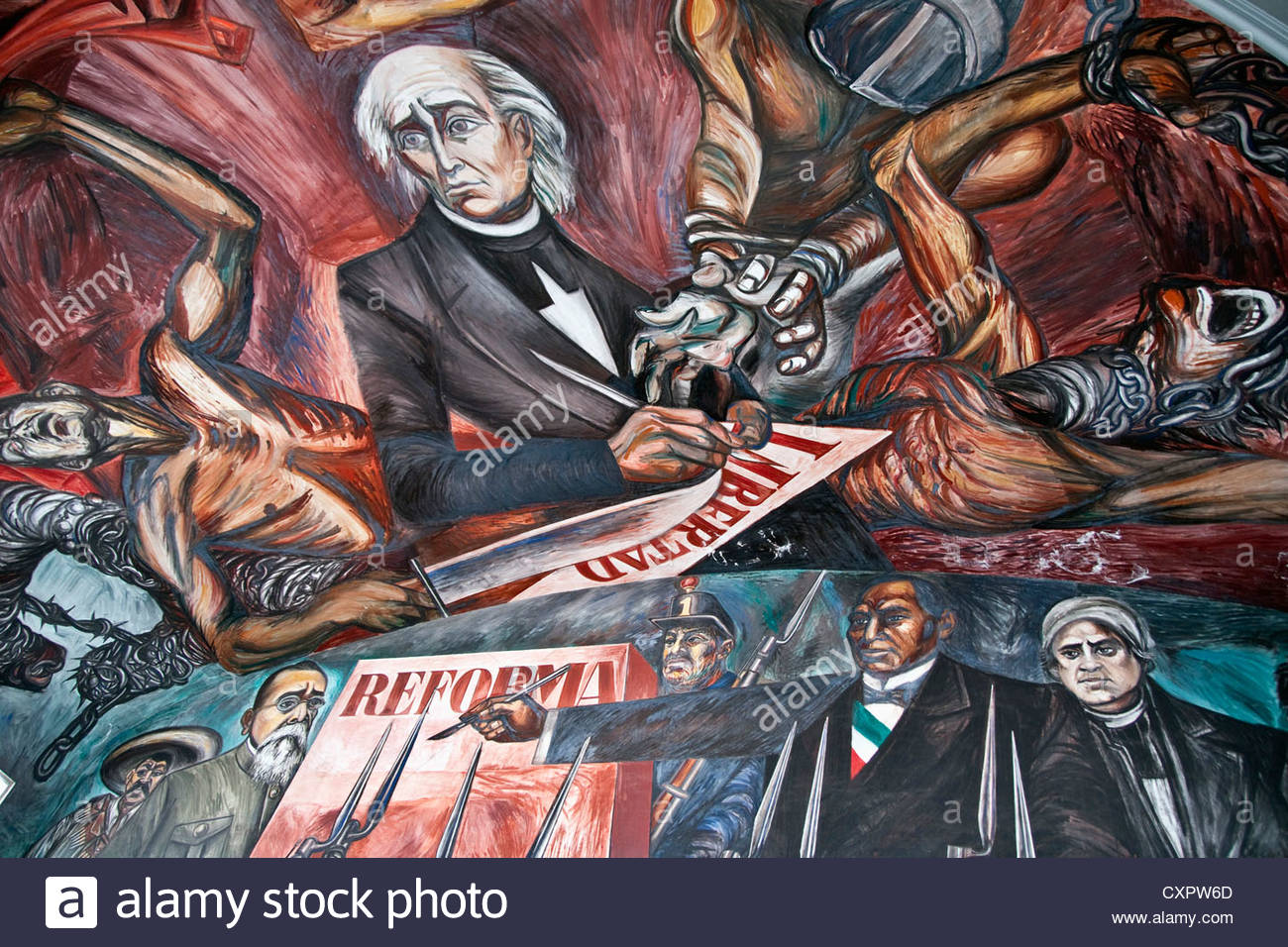 Fresco mural of Reformers of Jalisco by Jose Clemente Orozco on ...