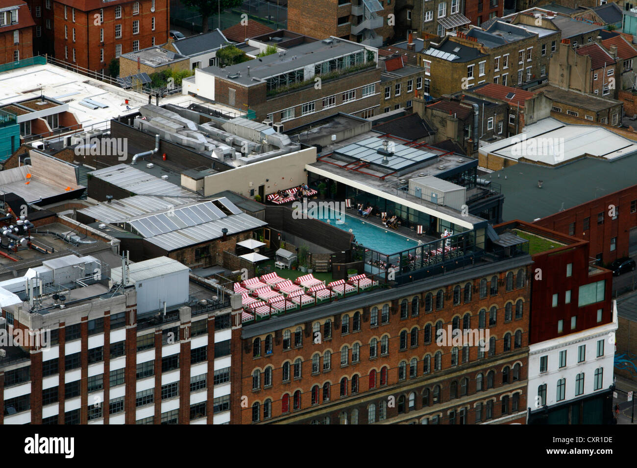 Elevated View Of The Swimming Pool Of Shoreditch House London Uk Stock Photo 50907850 Alamy