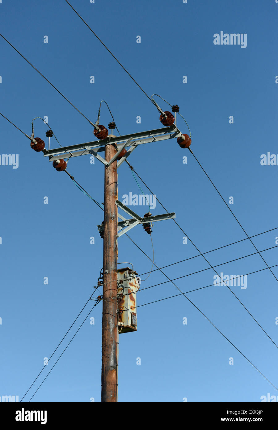 Overhead Power Line : Kv overhead electrical power lines and transformer on