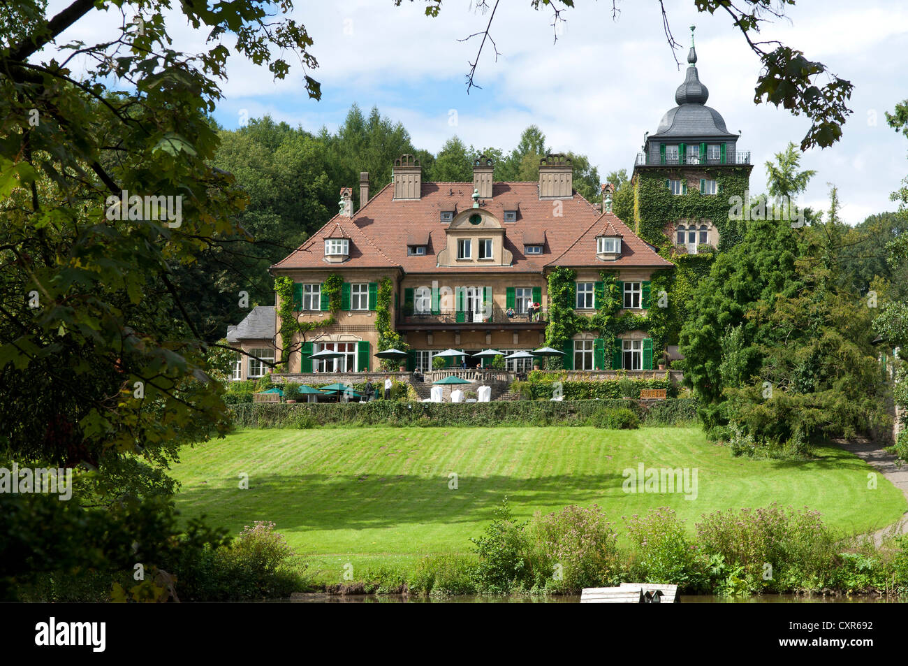 hotel of schloss lerbach castle bergisch gladbach north stock photo royalty free image. Black Bedroom Furniture Sets. Home Design Ideas