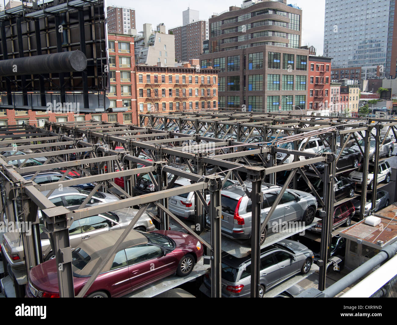 Car park stacked parking garage manhattan new york city for Ny city parking garages