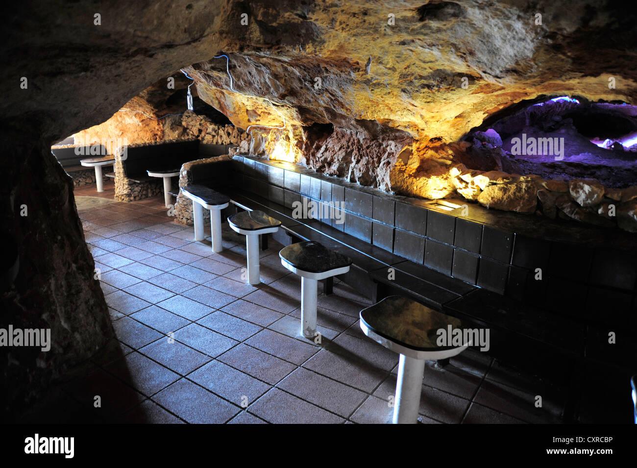 Bar Discotheque In The Cave Of Cova D En Xoroi Cala En