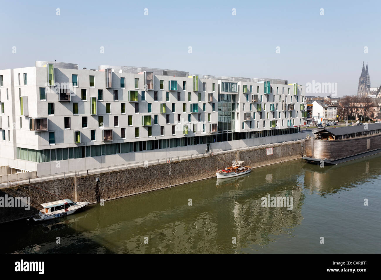 art 39 otel cologne design hotel rheinauhafen cologne north stock photo 50921242 alamy. Black Bedroom Furniture Sets. Home Design Ideas