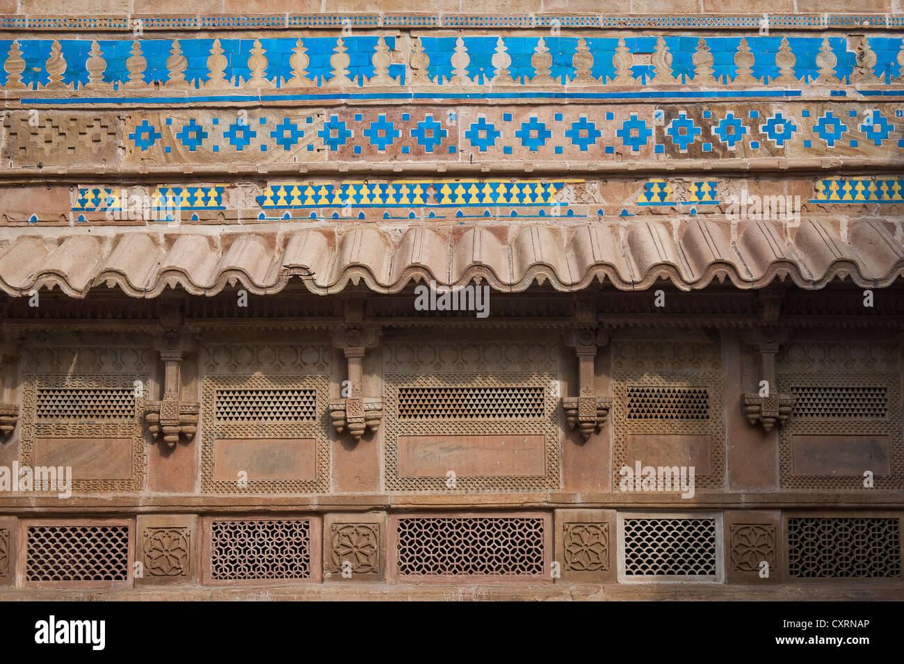 Colourful ceramic tiles adorning a wall man singh palace gwalior colourful ceramic tiles adorning a wall man singh palace gwalior fort or fortress gwalior madhya pradesh india asia dailygadgetfo Choice Image