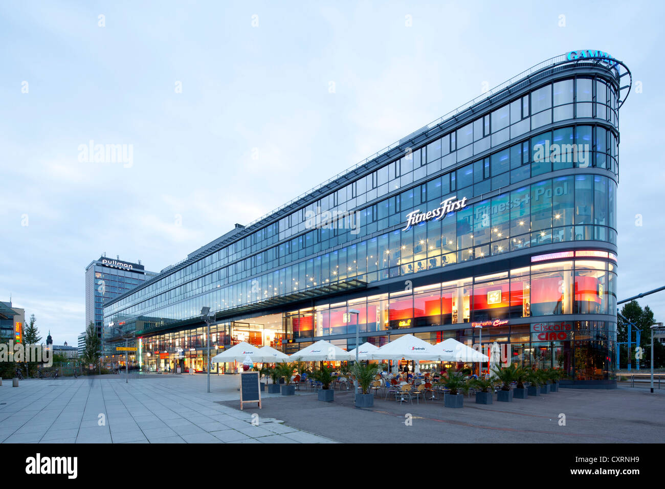 prager spitze shopping centre prager strasse street dresden stock photo royalty free image. Black Bedroom Furniture Sets. Home Design Ideas