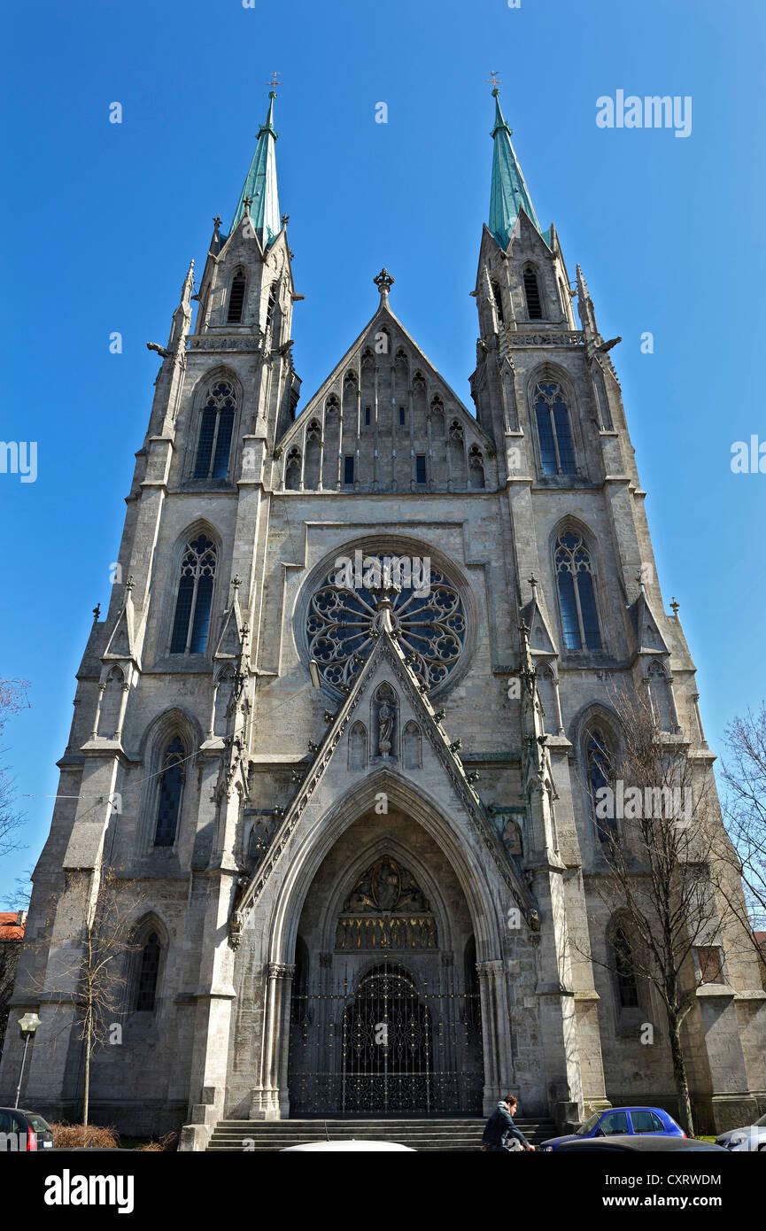 Catholic Church Of St Paul Paulskirche Gothic Revival Architecture Munich Bavaria Germany Europe