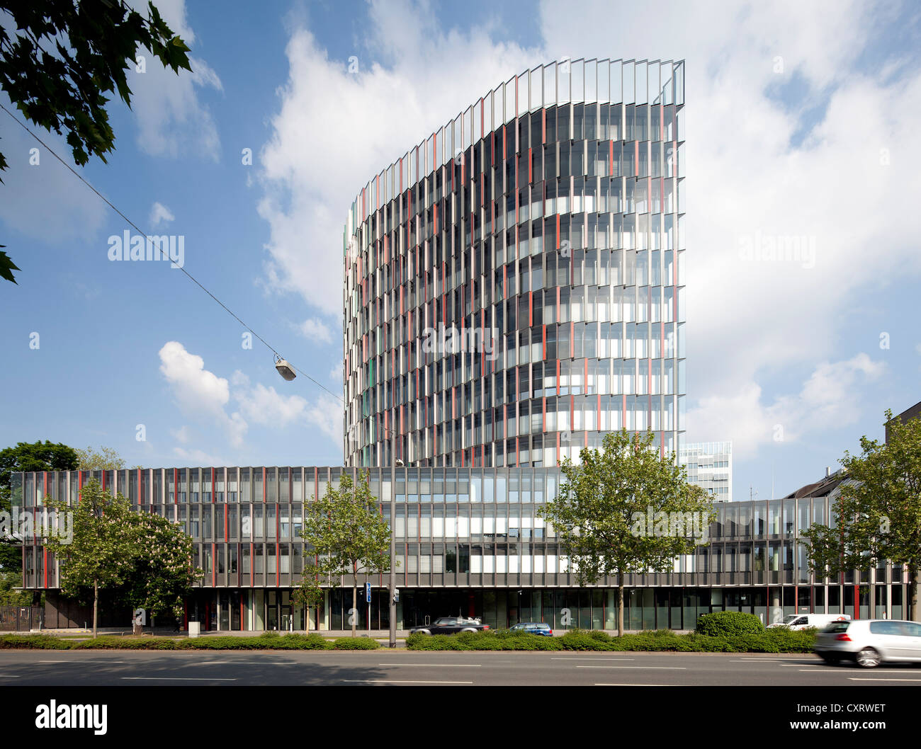 kfw westarkade office building frankfurt am main hesse stock photo royalty free image. Black Bedroom Furniture Sets. Home Design Ideas