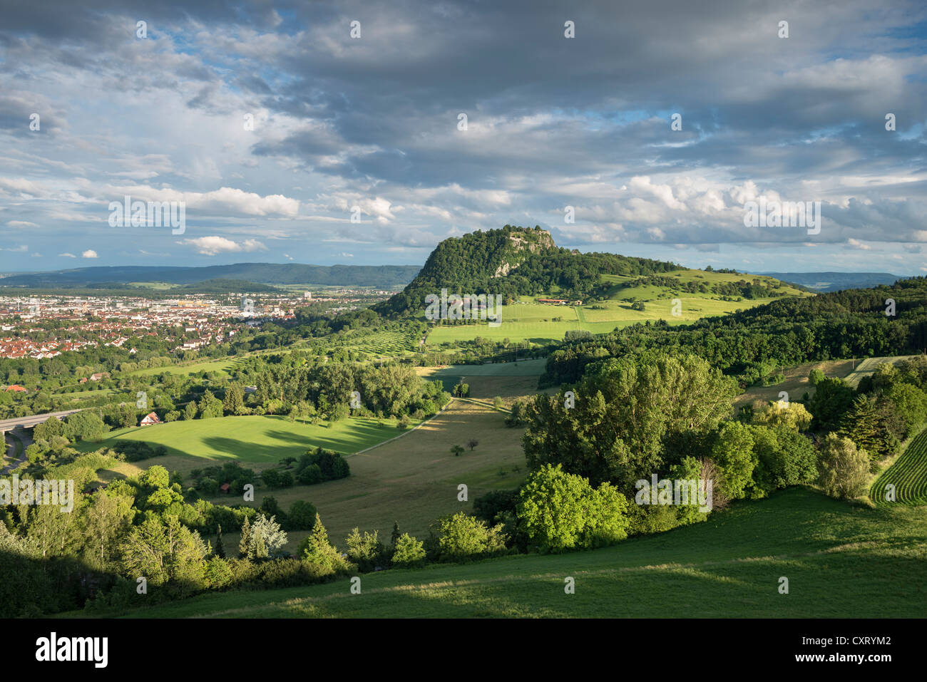 view of the hohentwiel volcano and singen baden wuerttemberg stock photo royalty free image. Black Bedroom Furniture Sets. Home Design Ideas