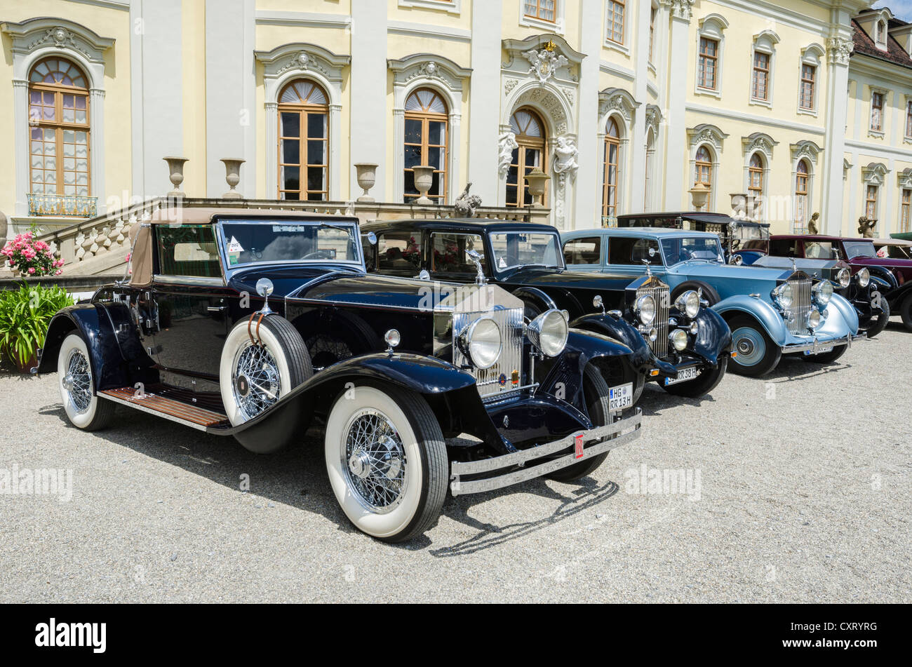 Rolls royce classic cars parked in front of ludwigsburg palace classics meets barock classic