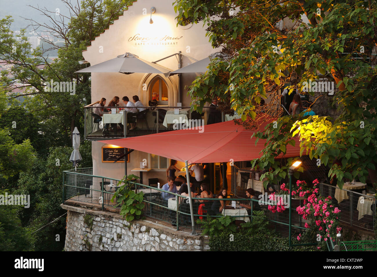 Starcke Haus restaurant on Schlossberg castle hill Graz