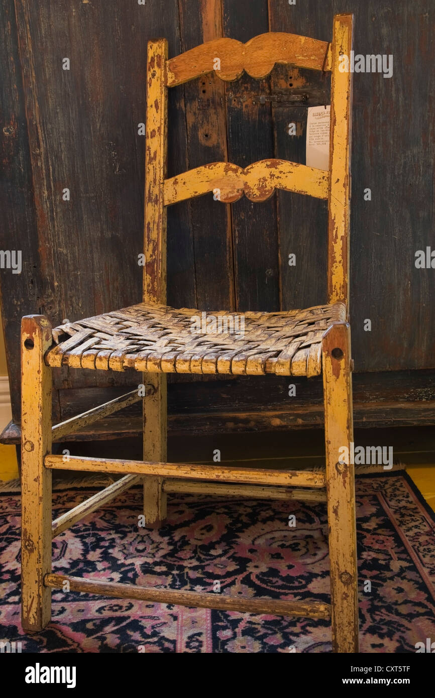 Antique wooden chair - Antique Wooden Chair And Armoire Inside An Old Residential Home And Antique Store Lanaudiere