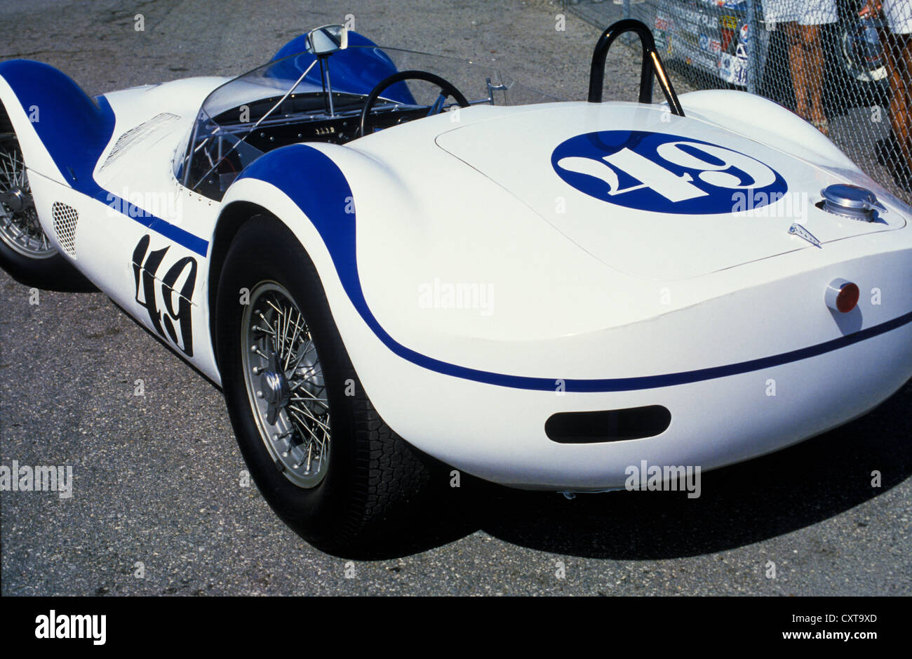 A birdcage Maserati race car at the Monterey Historic Car Races in ...