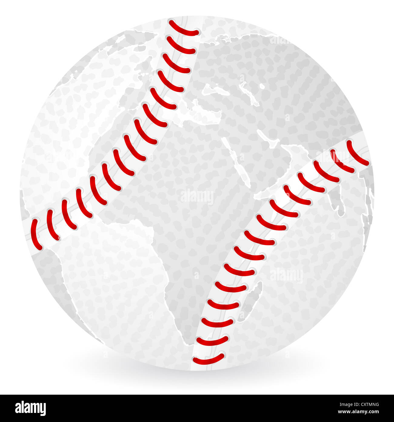 World map baseball ball on a white background stock photo royalty world map baseball ball on a white background gumiabroncs Images