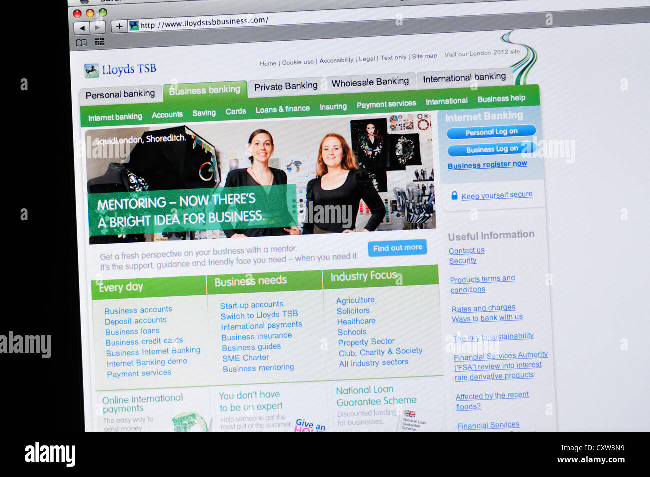Lloyds website online business banking stock photo royalty free lloyds website online business banking magicingreecefo Image collections