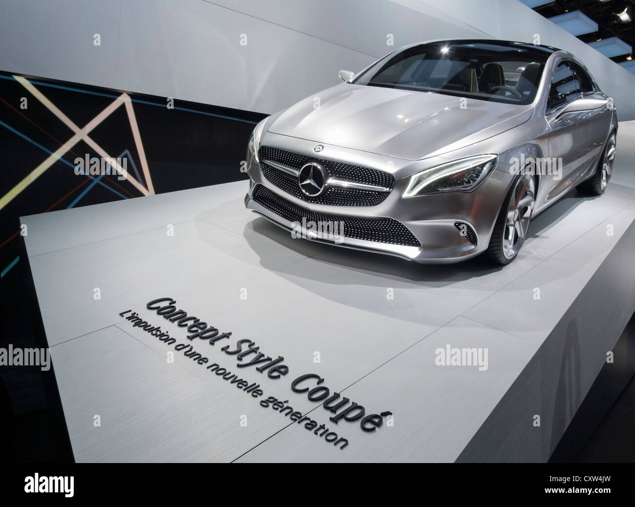New mercedes benz concept style coupe on display at paris for New mercedes benz concept