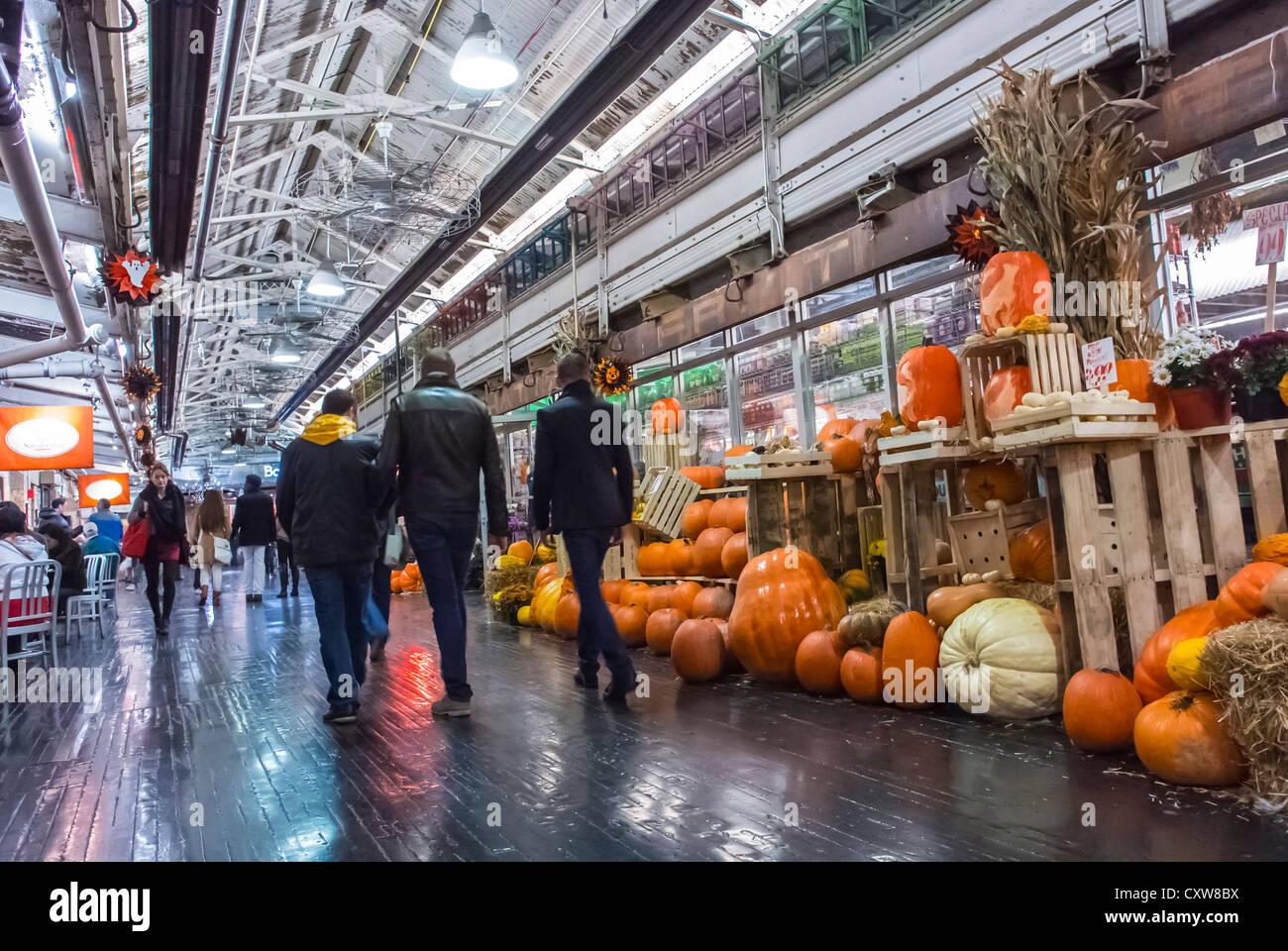 Chelsea Market new york city, ny, usa, people shopping in the chelsea market