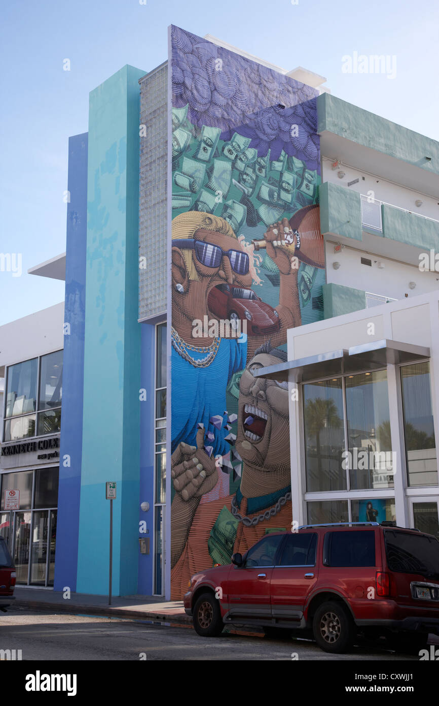 High Quality Stock Photo   Wall Mural On Collins Ave Part Of The Art Deco District Miami  South Beach Florida Usa Part 27
