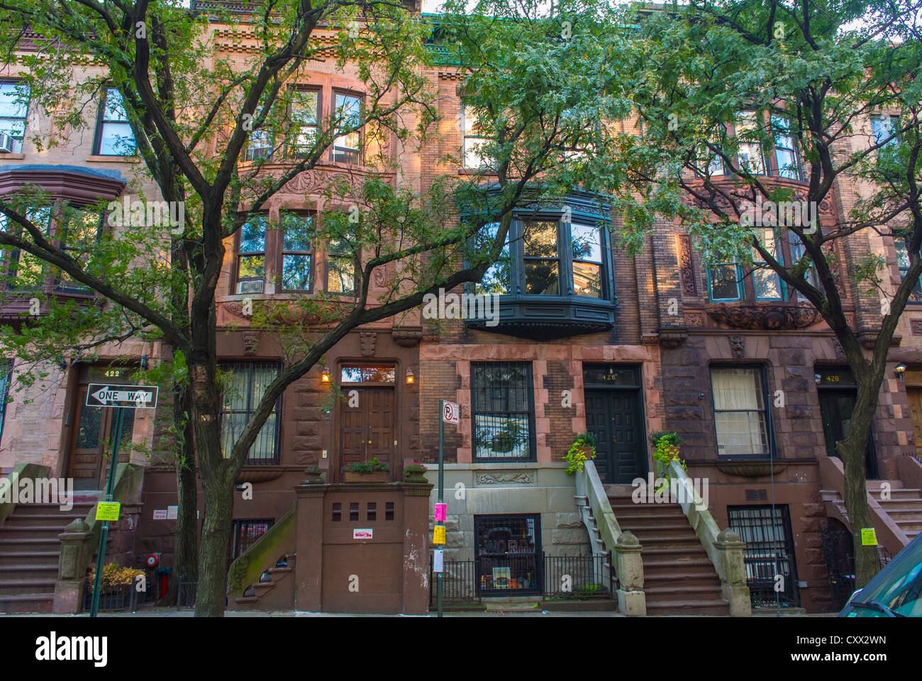 New york city ny usa street scenes townhouses row for Buying an apartment in nyc