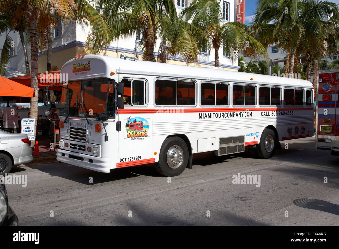 Miami Tour Company Tourist Bus Tours South Beach Florida Usa Stock - Bus tours usa