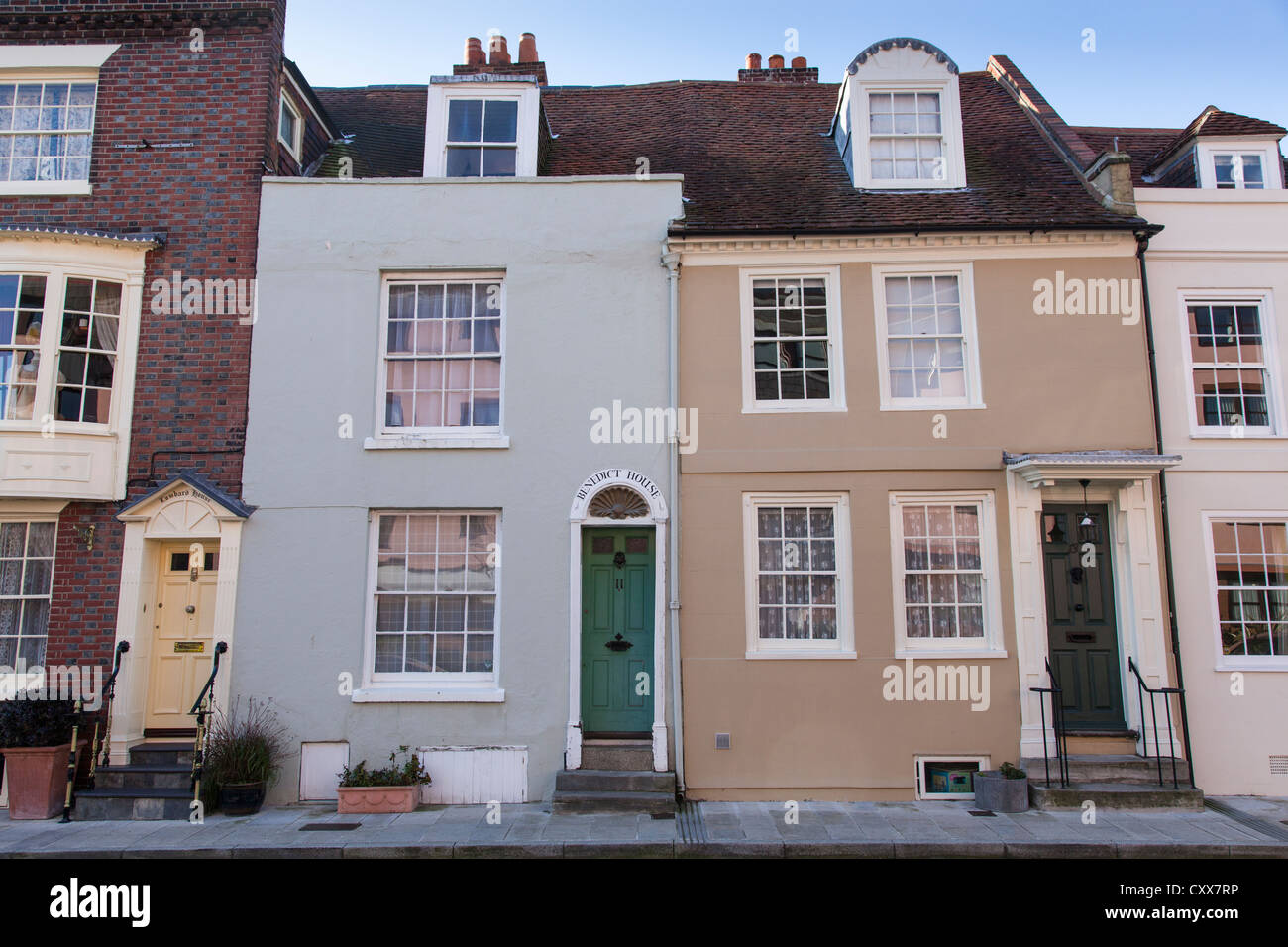 18th century houses in Lombard Street, Old Portsmouth, England