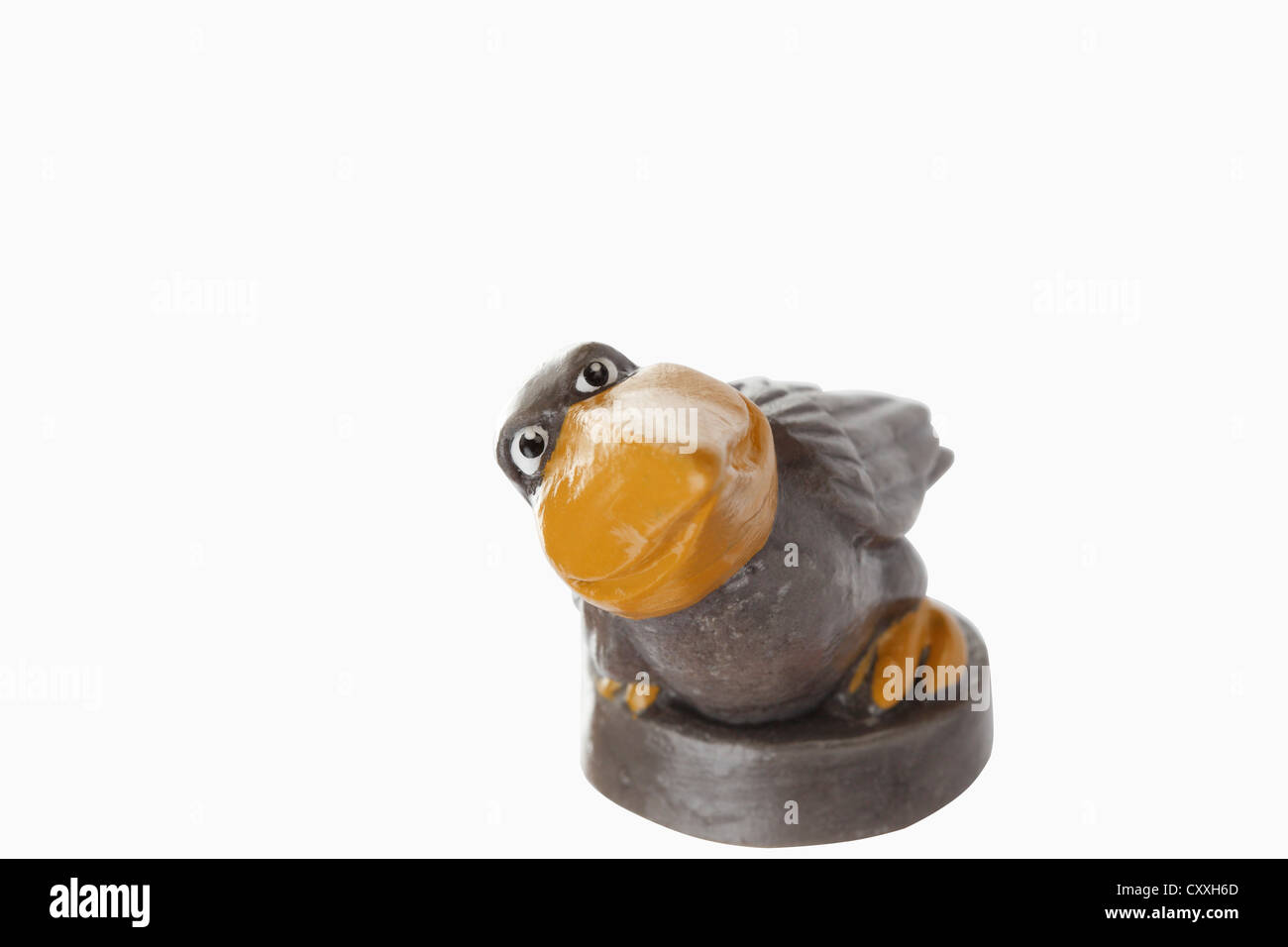 cartoon character bird with large beak stock photo royalty free