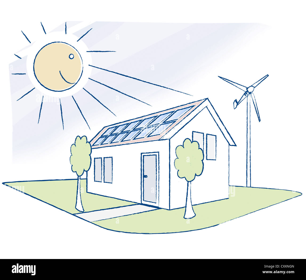 solar panels mobile homes html with Stock Photo House With Solar Panels And A Small Wind Turbine Illustration 50989477 on Install Metal Roof Mobile Home besides 2004 Ford F450 Lexington Motorhome 32974067 besides Oka 4x4 Off Road Travel Poptop likewise 7 Expensive Mobile Homes besides Stock Photo Timber Clad Zero Carbon Passive House With Triple Glazed Windows Roof 30958708.