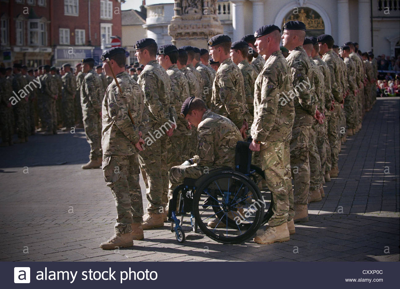Homecoming parade for 33 engineer regiment for their service in afghanistan taking place in saffron walden