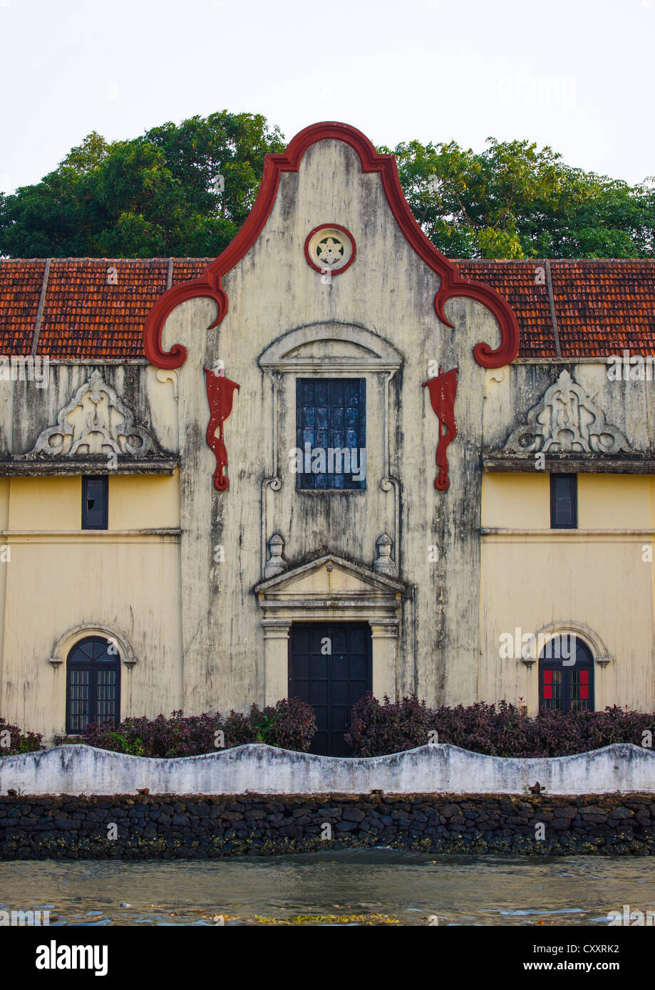 Front Of An Old Trader House With Decrepit Wall On The Waterfront ...