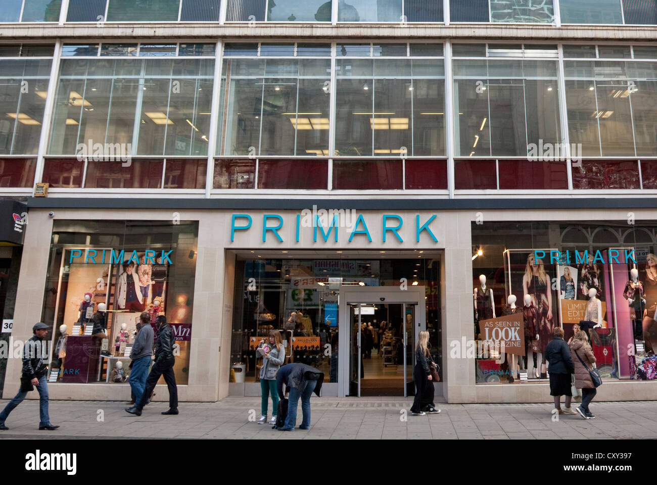 new primark flagship store in oxford street london stock photo royalty free image 50997107. Black Bedroom Furniture Sets. Home Design Ideas