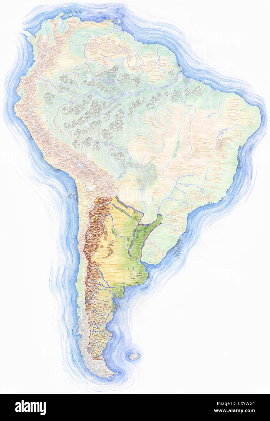 Map of south america highlighting to be process flow chart where is argentina on the world map picture ideas references highly detailed hand drawn map of south america with argentina highlighted cxywg4 where is gumiabroncs Choice Image
