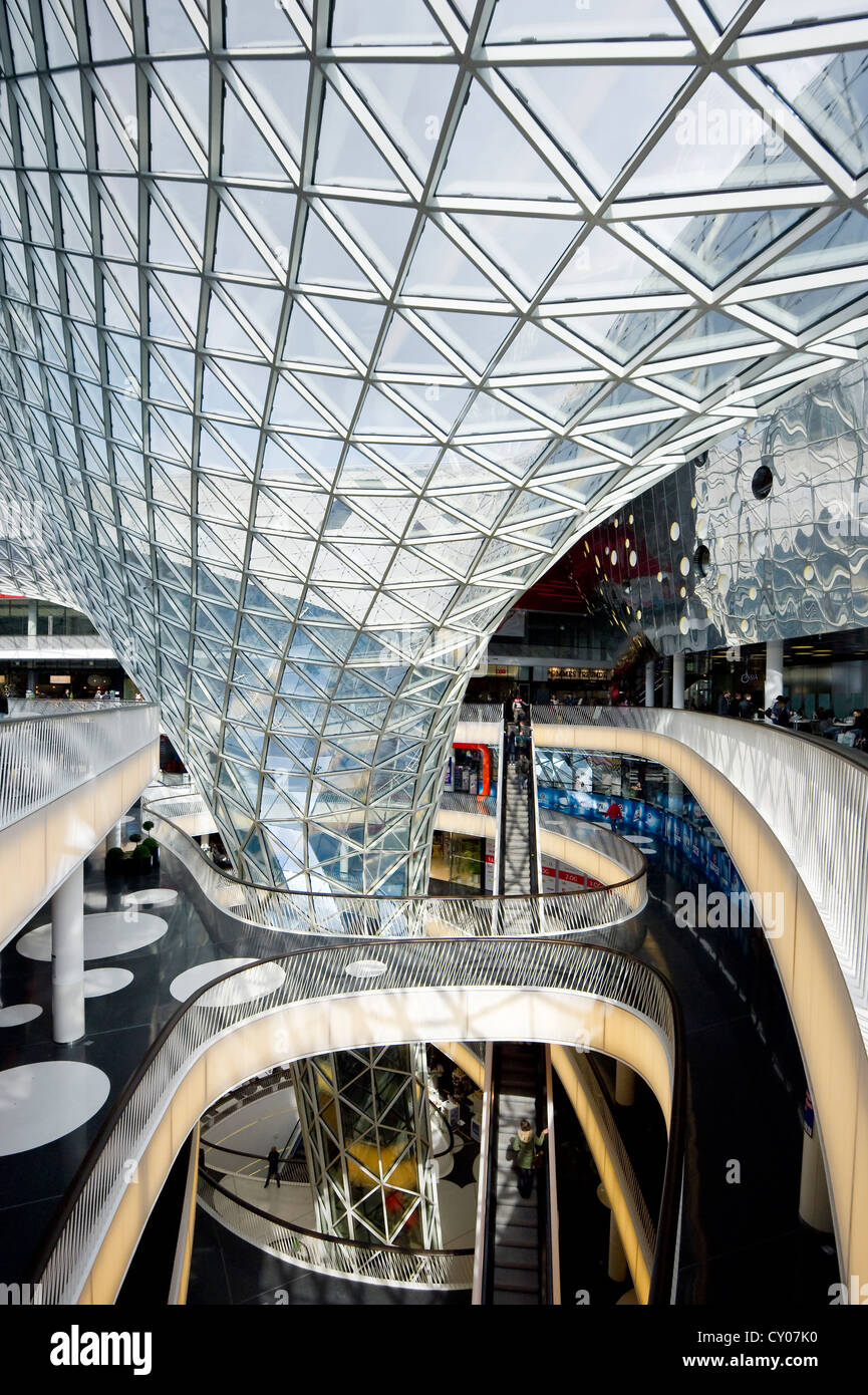 myzeil shopping center architect massimiliano fuksas frankfurt am stock photo royalty free. Black Bedroom Furniture Sets. Home Design Ideas