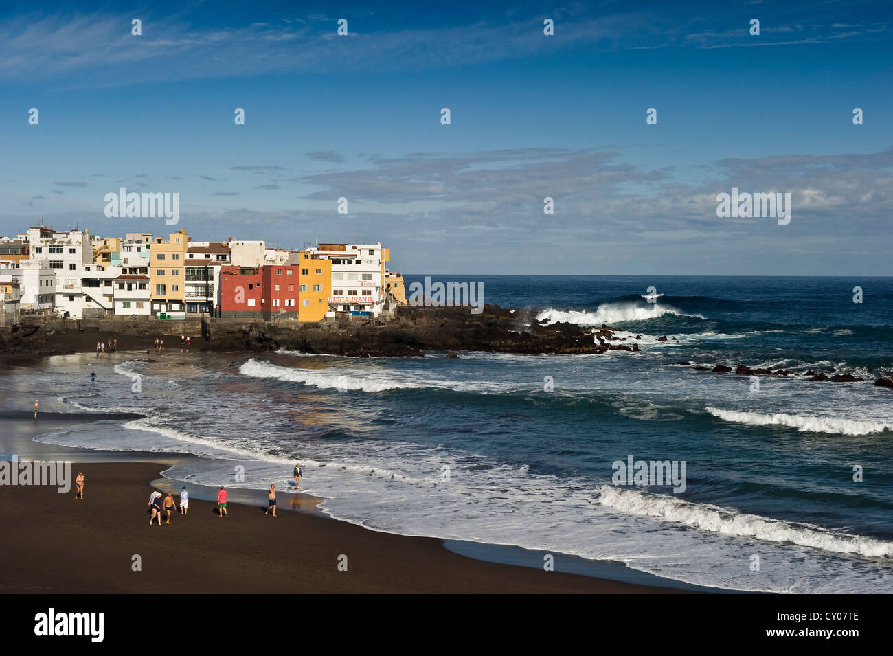 Beach of playa jardin punta brava puerto de la cruz tenerife stock photo royalty free image - Playa puerto de la cruz tenerife ...