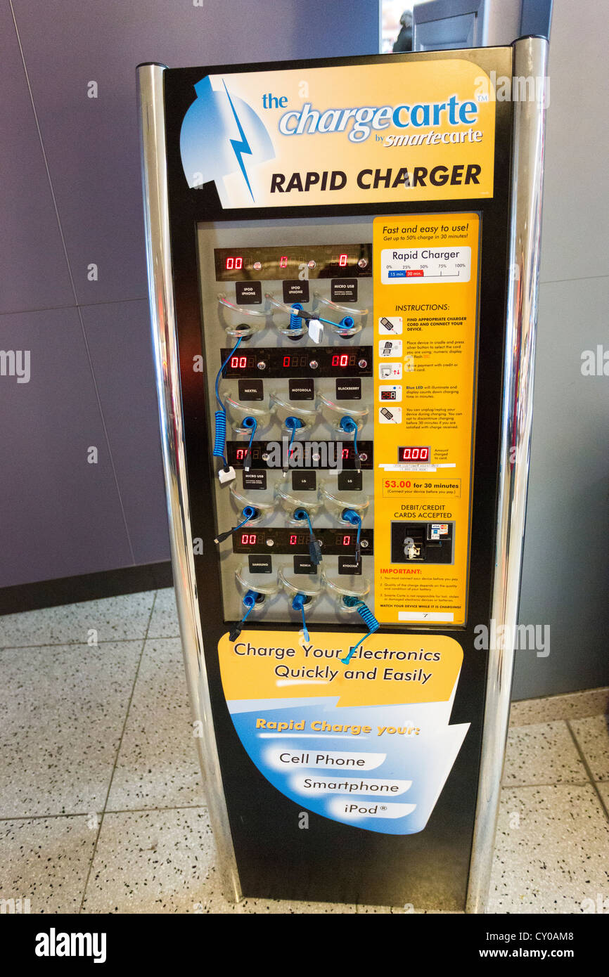 The Charge Carte   Rapid Charging Kiosk   Mobile Phone Charging Station At  McCarran International Airport